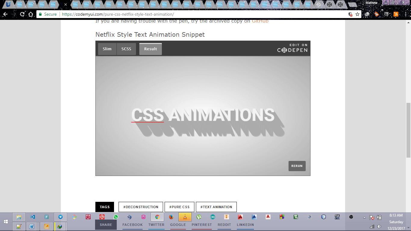CSS Netflix Style Text