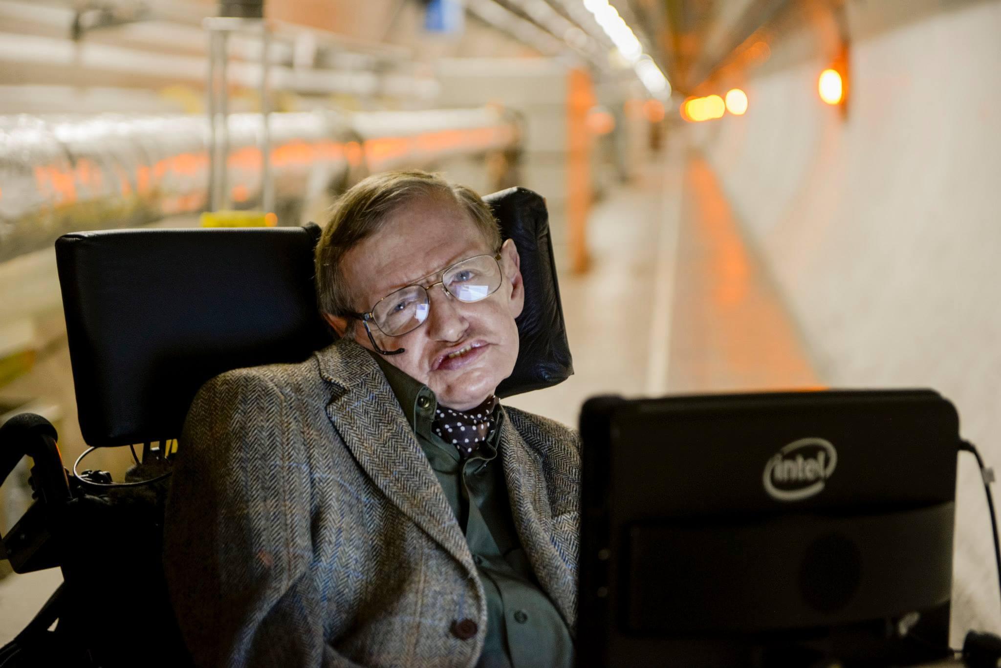 Stephen Hawking at Cern