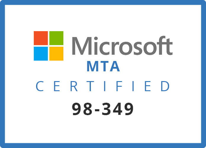 Microsoft 98-349 Certification