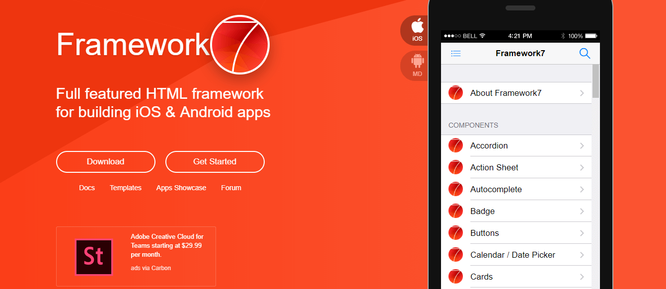 10 Popular Mobile Hybrid Apps Frameworks for 2018