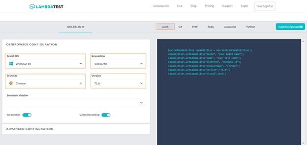 Selenium Automation Using Java on LambdaTest Platform