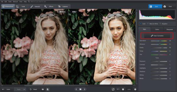 Auto photo editing