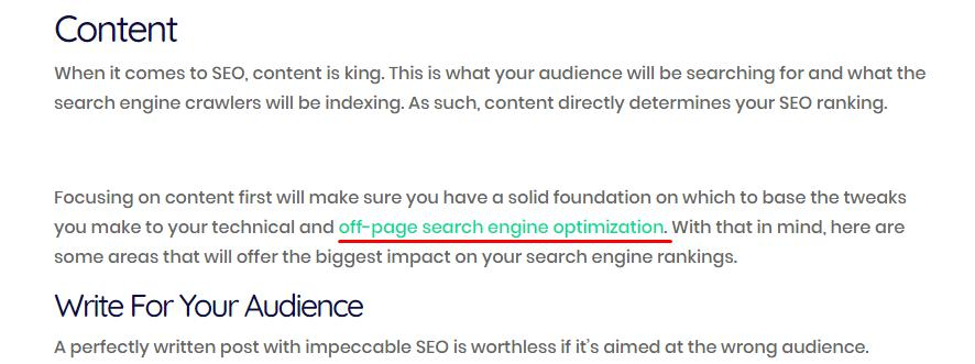 Content- Off page SEO