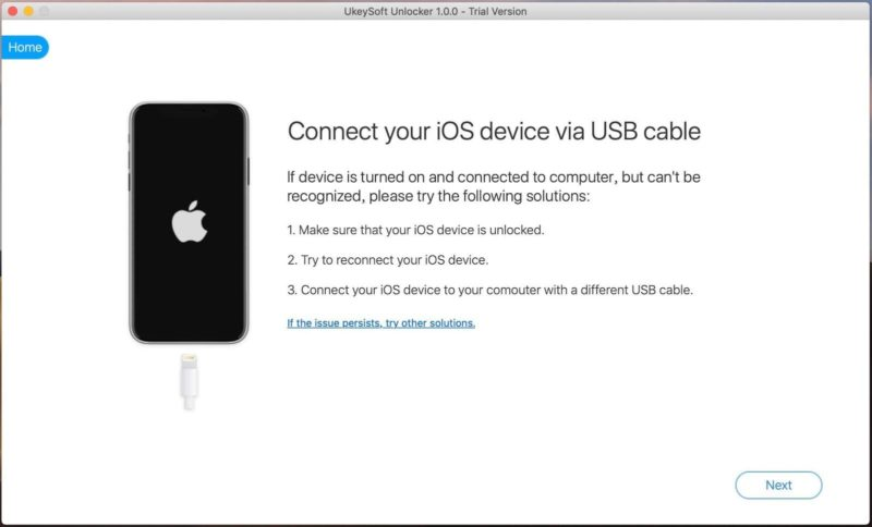 connect your ios device with usb cable- image 9