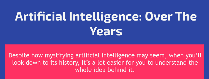 Artificial intelligence infographics - slide 1