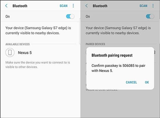 Bluetooth for Android to Android Transfer