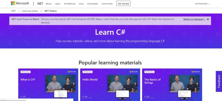 learn c sharp programming online free