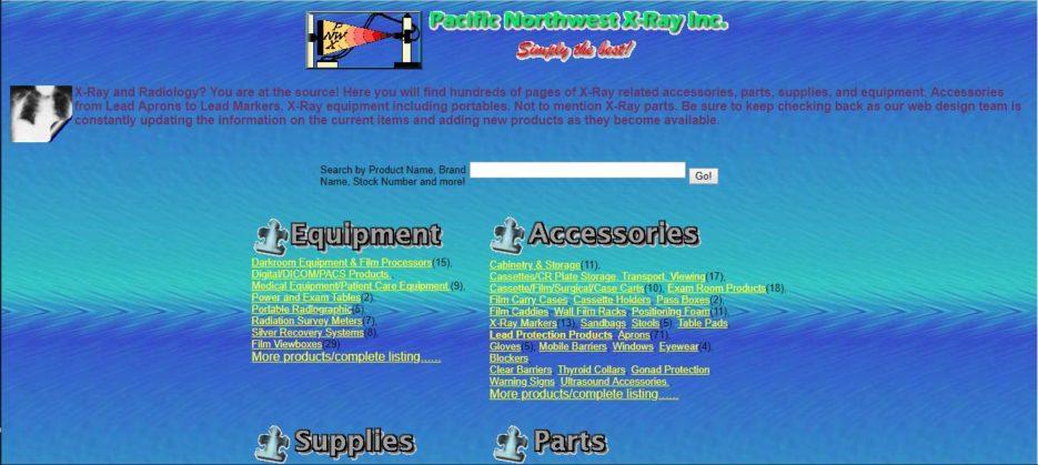 Example of poor website design