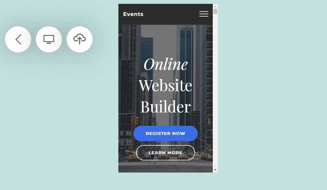 Building website with 8B builder