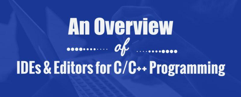 C/C++ IDEs & Editor header - infographics 1