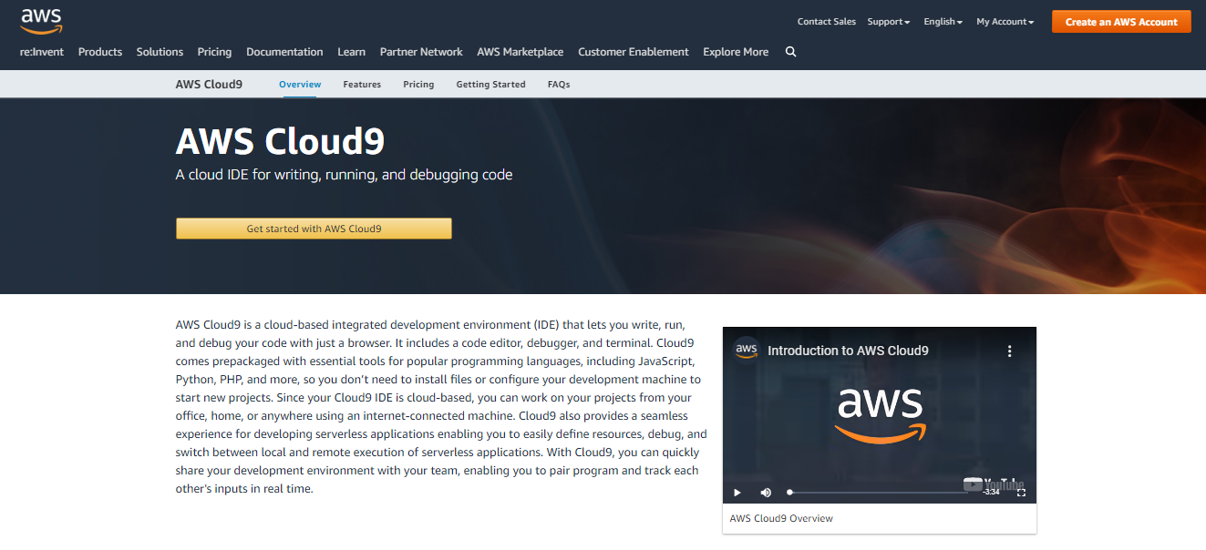 AWS Cloud9 IDE