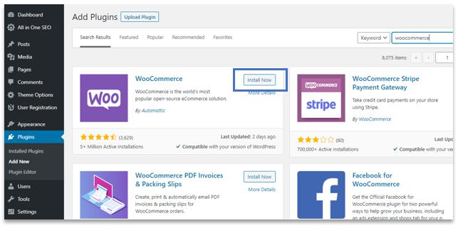 WordPress plugins, woocommerce