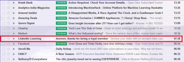 gmail, email subjects- 6
