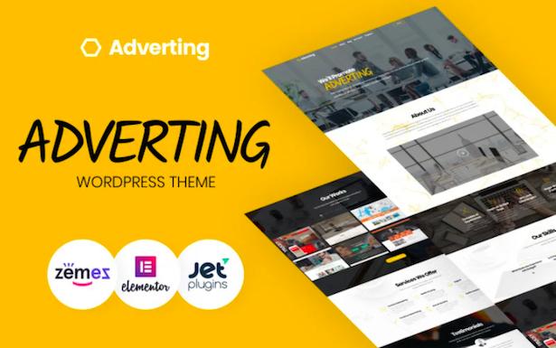 Adverting - Advertising Agency WordPress Theme
