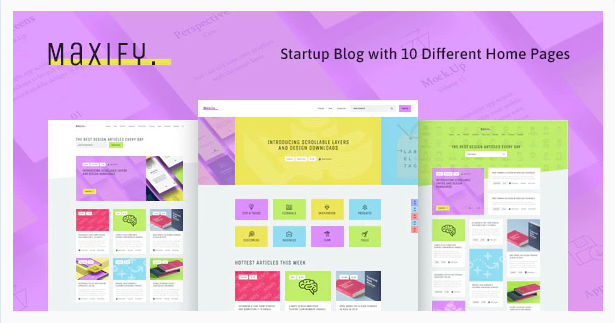 Maxify - Startup & Business News WordPress Blog Theme