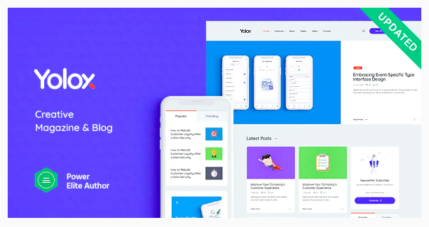 Yolox - Modern WordPress Blog Theme for Business & Startup